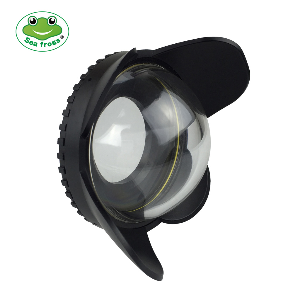 67mm 0.7x fisheye wide angle lens Dome Port (67mm Round )for Underwater waterproof Diving Housing camera Case bag