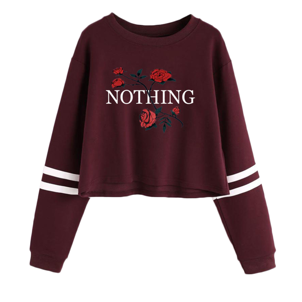 Personality Unique Creative Accessories Goods Design Selling Accessory Letter Print Rose Tracksuits Sweatshirt Best