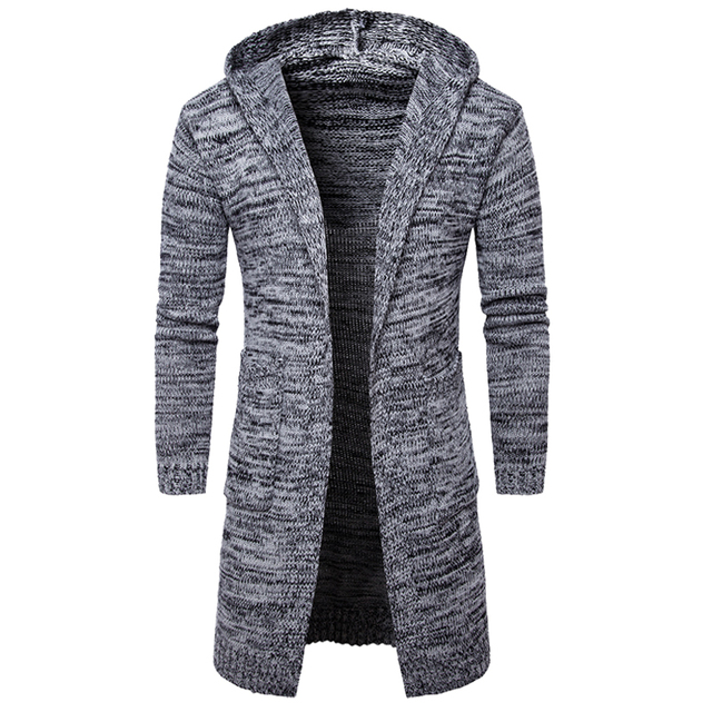 NEW Designed Men Sweater Long Cardigan for Man Hooded Sweater ...
