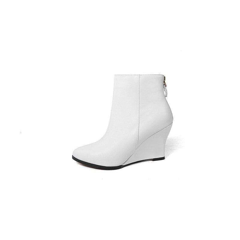 Botines Invierno Moda Altos Punta Zapatos Mujeres white 2018 Cuero Tacones Otoño Mujer Negro Smirnova Puntiaguda Elegante Botas De Prom Genuino Tinto vino 4SPt7wqnP