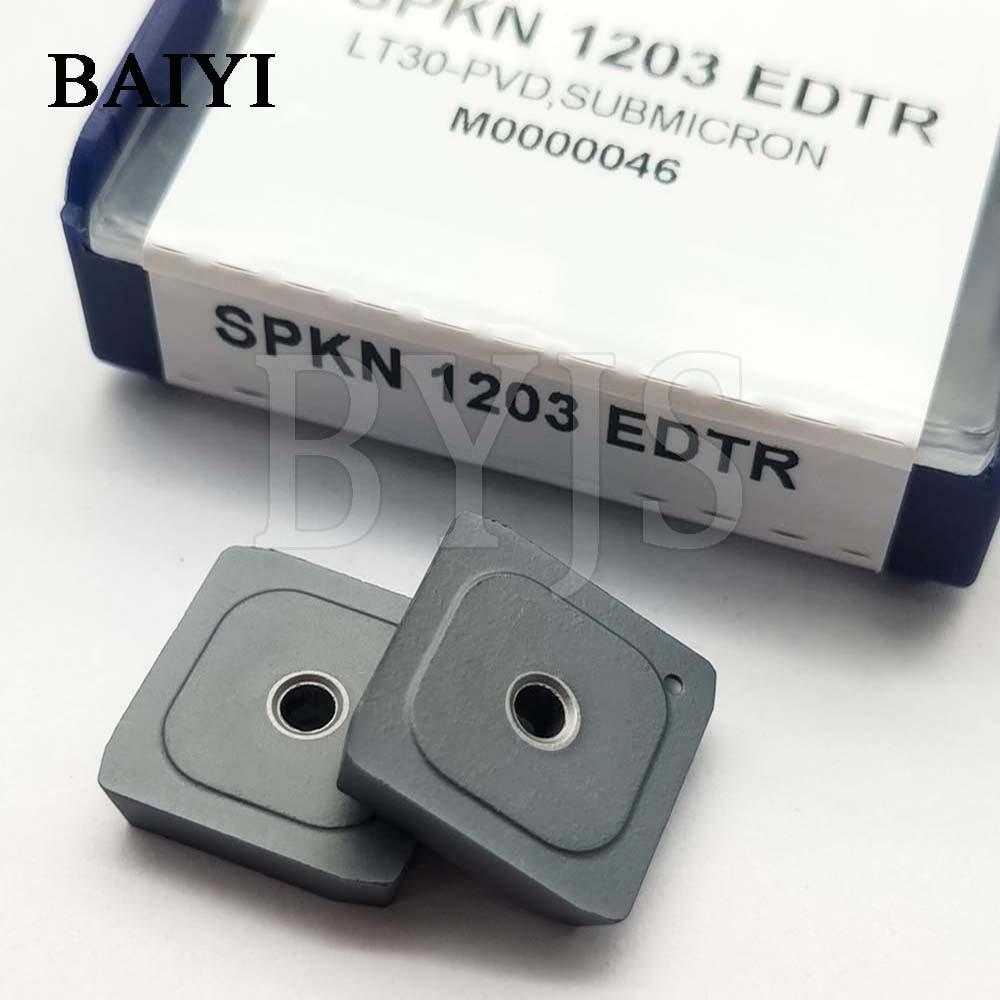 10pcs SPKN1203 EDTR CNC Carbide Insert Milling Blade Turning Tools