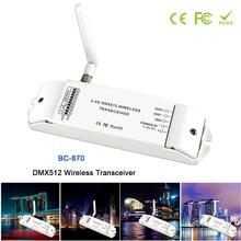 лучшая цена BC-870 DMX512 Wireless Transceiver Multi-usage DMX signal transmitter set as a receiver or emitter controller;DC5V-36V