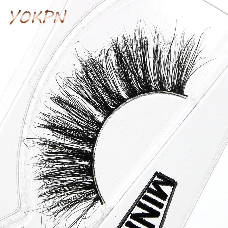YOKPN A11 Exaggeration Thick Mink False Eyelashes Stage Smoke Makeup Fake Eyelashes Natural Crisscross Mellow Mink Eye Lashes