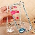 New swan cristal rhinestone case transparente limpar disco bling diamond case capa para samsung galaxy note 7 2016 j3 j5 j7 j710