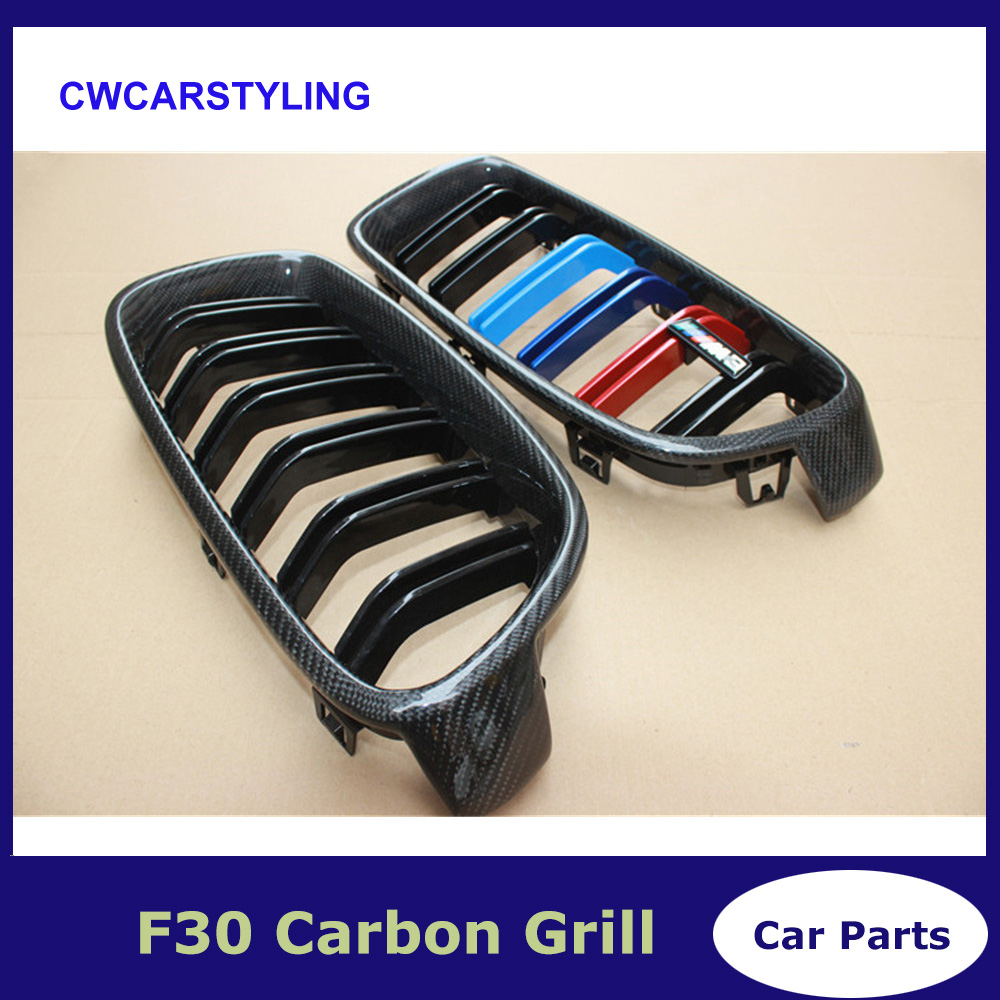 Aliexpress com : Buy A Pair F30 F31 carbon fiber ABS front kidney grille  for BMW 320i 325i 328i 330d 330i 335i 340i from Reliable Racing Grills