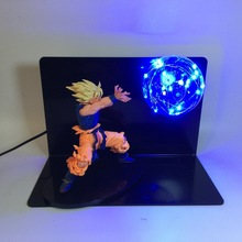 Dragon Ball Z Super Saiyan Son Goku LED Light Toy Lamp  Figure Jouet Display Model Toys Children Gift