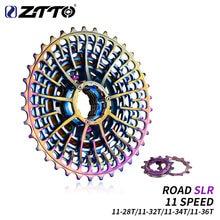 دراجة الطرق ZTTO 11 سرعة SLR ملونة كاسيت خفيفة 11-28T الحصى الدراجة 11-36T 11 سرعة 11-34 K7 11 فولت 11-32 باستخدام الحاسب الآلي
