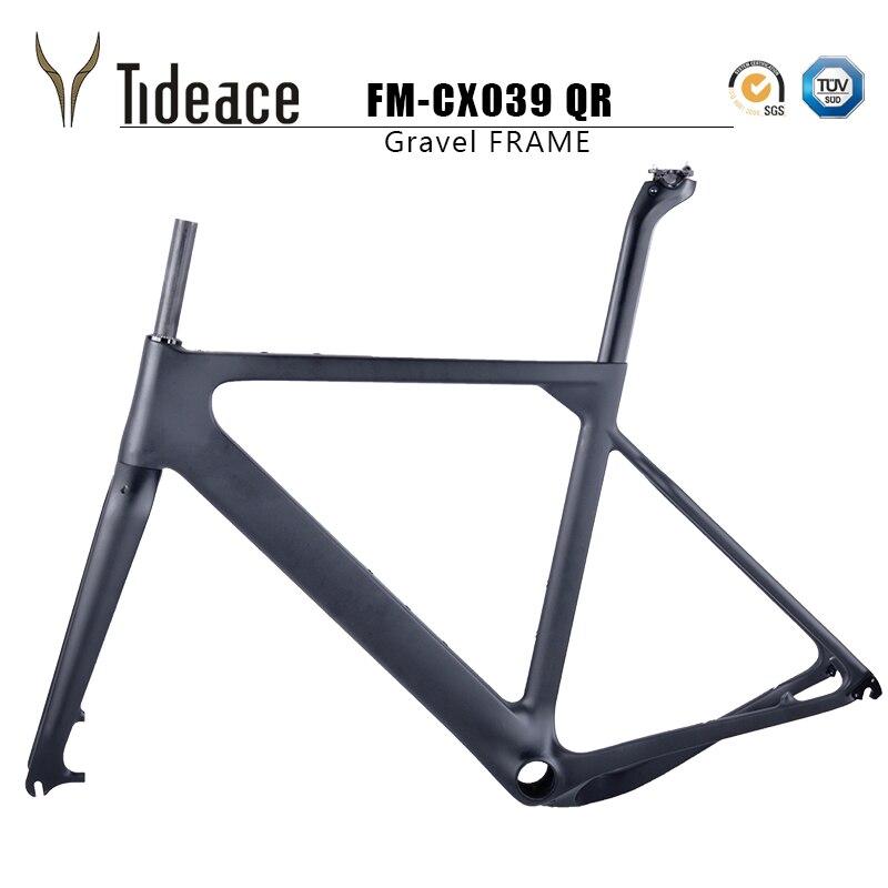 2019 Tideace Beitrag montieren Aero kies Fahrrad Rahmen S/M/L Disc Fahrrad Carbon Kies rahmen QR oder steckachse-in Fahrradrahmen aus Sport und Unterhaltung bei AliExpress - 11.11_Doppel-11Tag der Singles 1