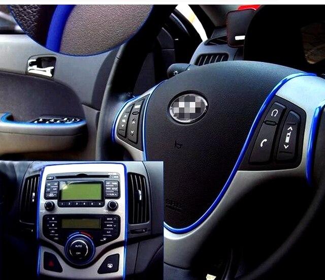 Autocollants décoratifs pour voiture   Autocollant de style intérieur et extérieur 5 M/Lot, Option de 10 couleurs, autocollants de modification pour voiture automobile, fil de décoration