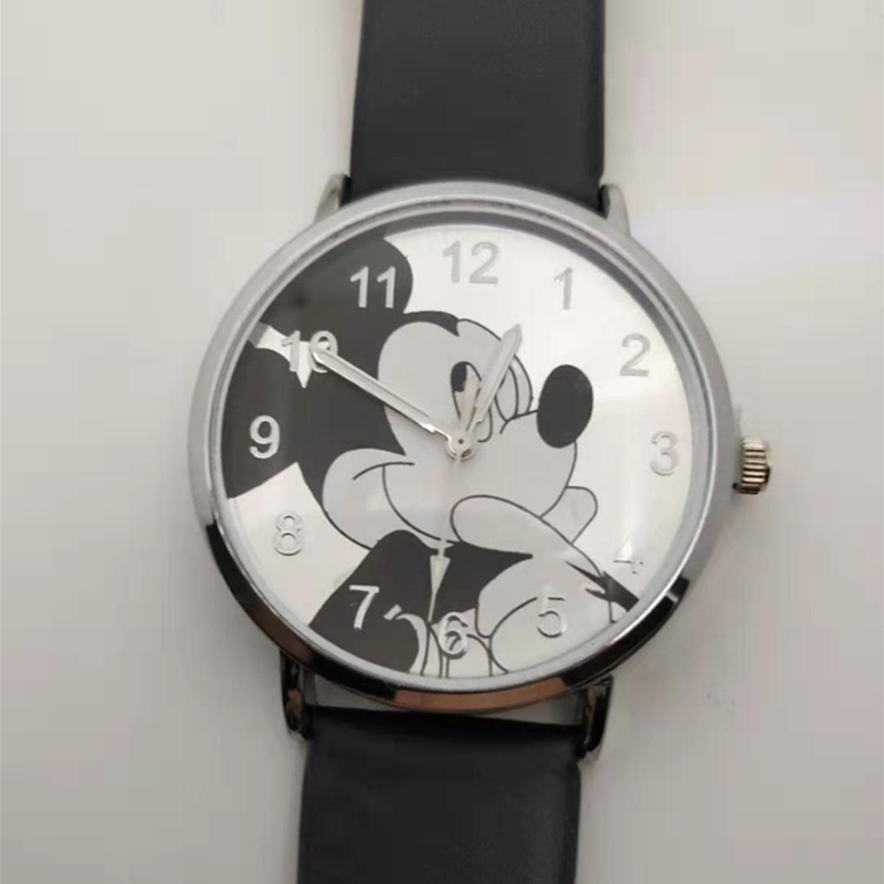 2019New Pattern  Cute Cartoon Quartz Watches Children's Leather Watches Women's Watches Mickey Watches Boys And Girls Student