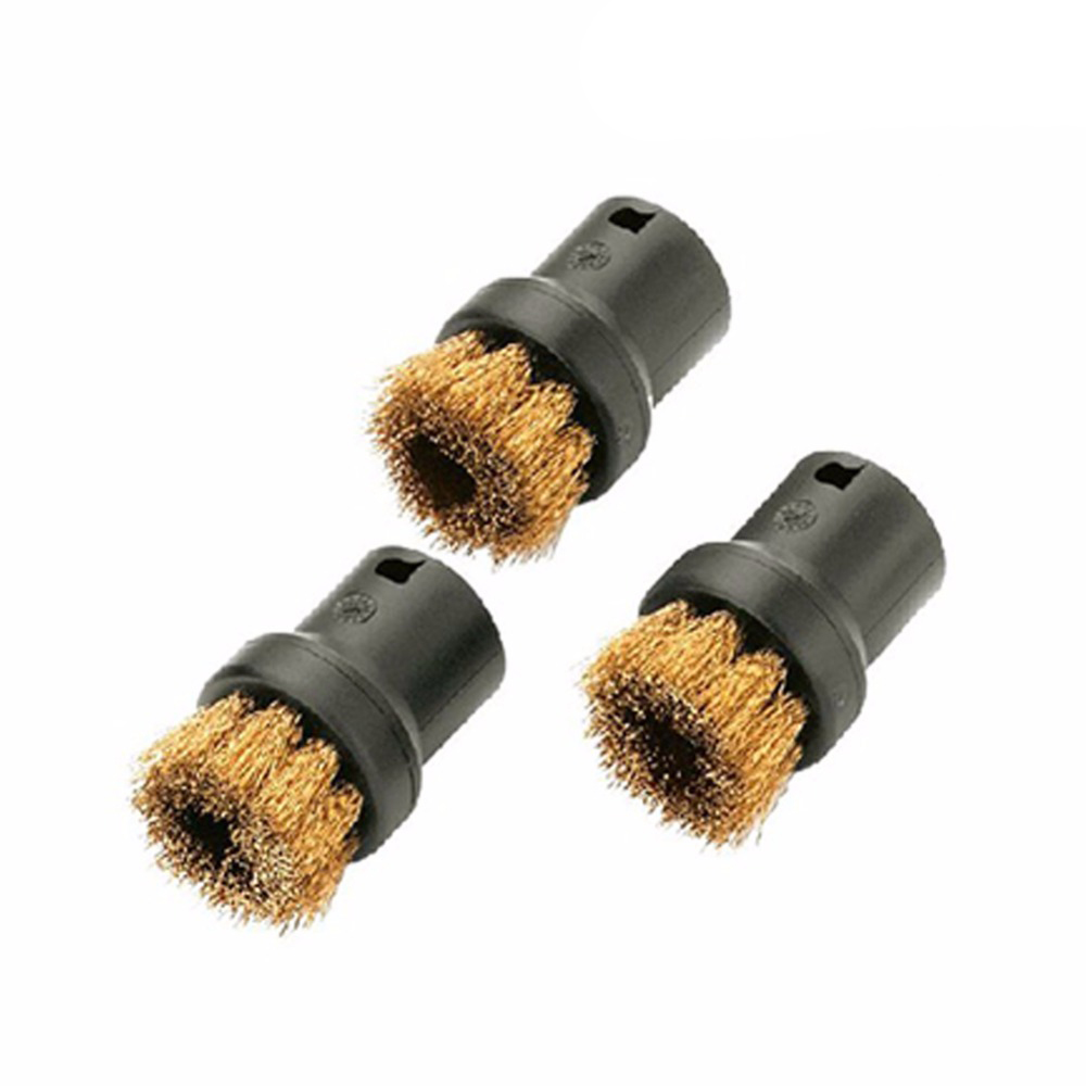 3pcs/lot Steam Cleaner Brush Round Brush with Scraper Attachment for Karcher SC952 SC1020 SC1052 SC1122 SC1125 SC1402 etc brush scraper maxi plast 51 cm