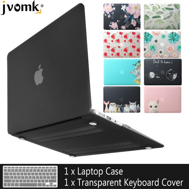 2019 New color laptop Case For Apple macbook Air Pro Retina 11 12 13 15 For Mac book 13.3 inch with Touch Bar +Keyboard Cover