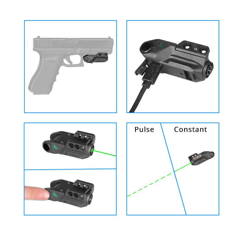 Умная Зеленая лазерная указка Воздушный пистолет игрушечное оружие Встроенный перезаряжаемый аккумулятор Beretta 92Fs лазерный прицел Glock