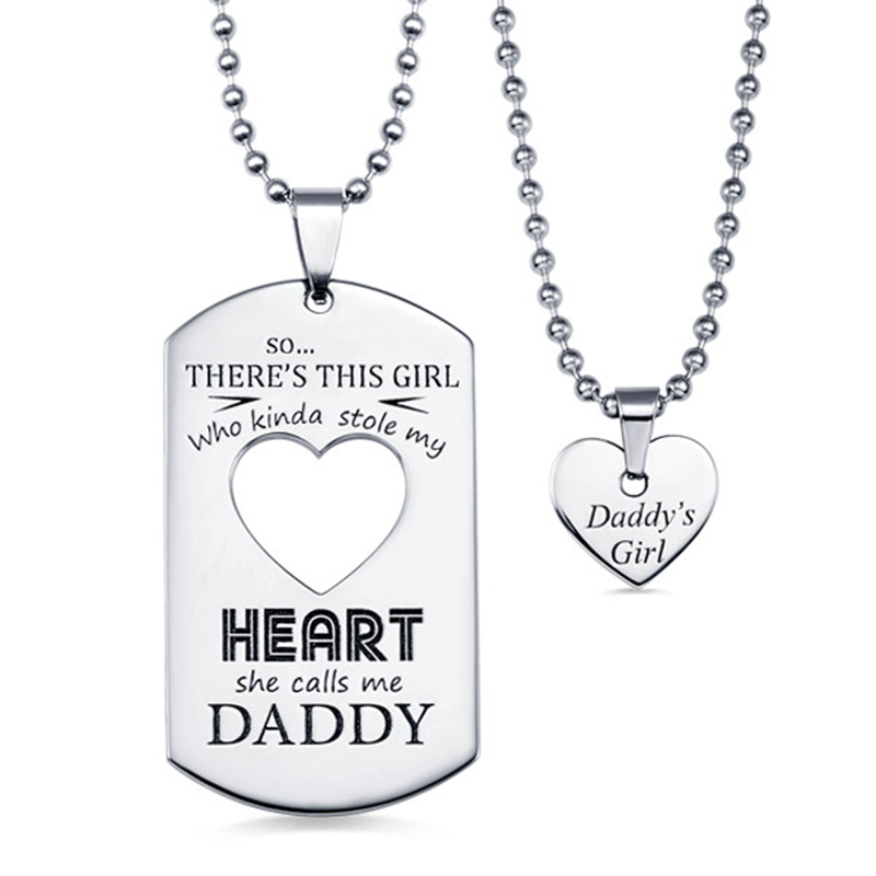 AILIN Personalized Couples Dog Tag Necklace With Cut Out Heart Anniversary Gift Classical Christmas Present For Her/Him heart cut out ribbed tee