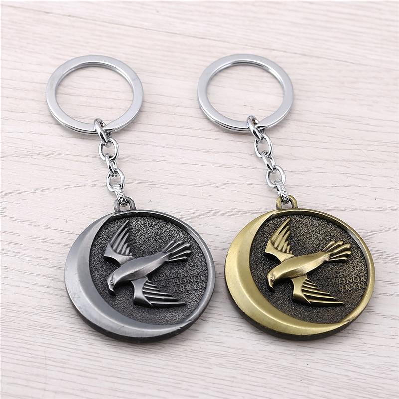 J store Game of Thrones House Arryn Badge Keychain for men metal Trinket Portachiavi Car Key ring Holder JJ11577
