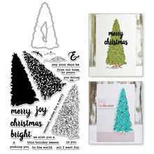 YaMinSanNiO Christmas Tree Metal Cutting Dies Plants Scrapbooking Stamps and for Decoration Album Embossing Card DIY Crafts