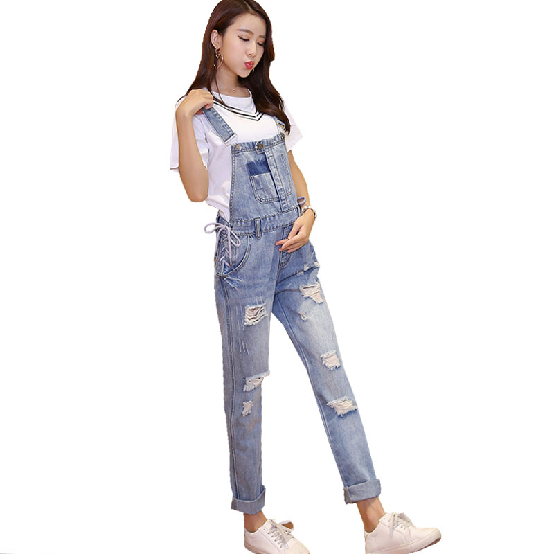 Hole Denim Jeans Maternity Suspenders Overalls Pants For Pregnant Women Pregnancy Braced Bibs Work Carrying Maternity Clothing denim overalls maternity jeans straps pants for pregnant women embroidery pockets jeans pregnancy braced suspenders jumpsuits