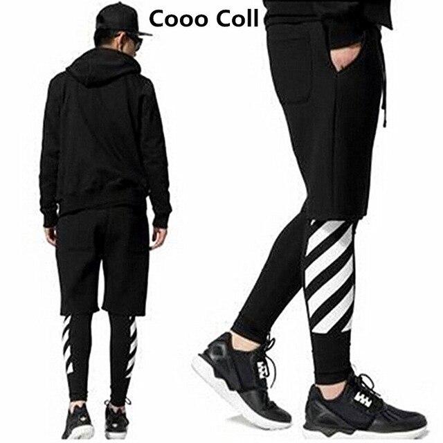 Новый кремовый мужская мода повседневные брюки Черный Страх божий байкер брюки hip hop скейт kanye west jogger Штаны Cooo Coll