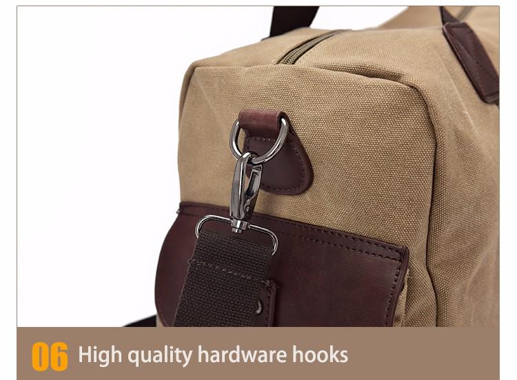 Famous Brand Men Vintage Canvas Men Travel Bags Women Weekend Carry On Luggage & Bags Leisure Duffle Bag Large Capacity Handbags (37)