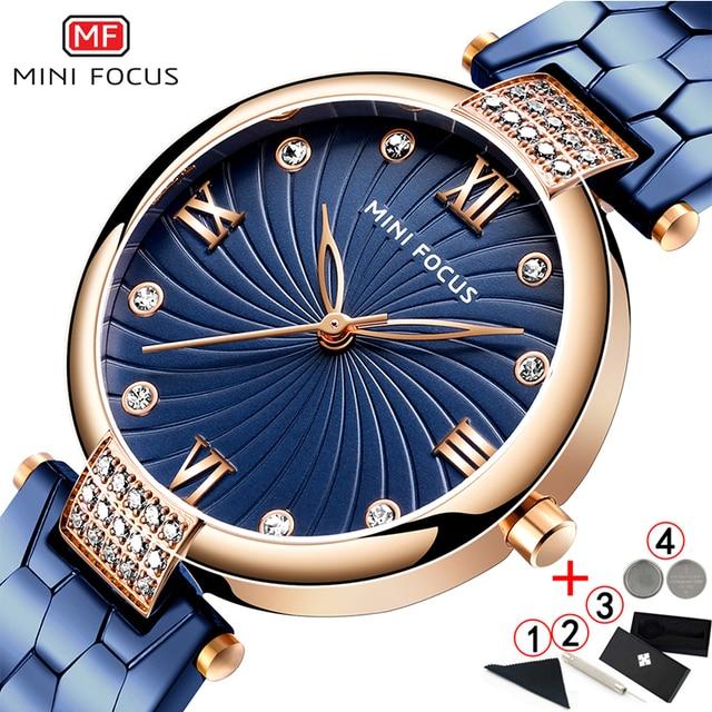 Reloj Mini Focus Mujer Women Watch Famous Luxury Brands Stainless Steel Elegant Watches For Women 2019 Quartz Ladies Watches