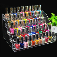 31X22 3X17cm 5 Tiers Makeup Cosmetic Clear Acrylic Organizer Lipstick Jewelry Display Stand Holder Nail Polish