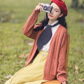 Japanese Mori Girl Autumn Winter Women Cardigan Oversized Soft Knitting Sweater All-Match Elegant Kawaii Korean Spring Outerwear knitting
