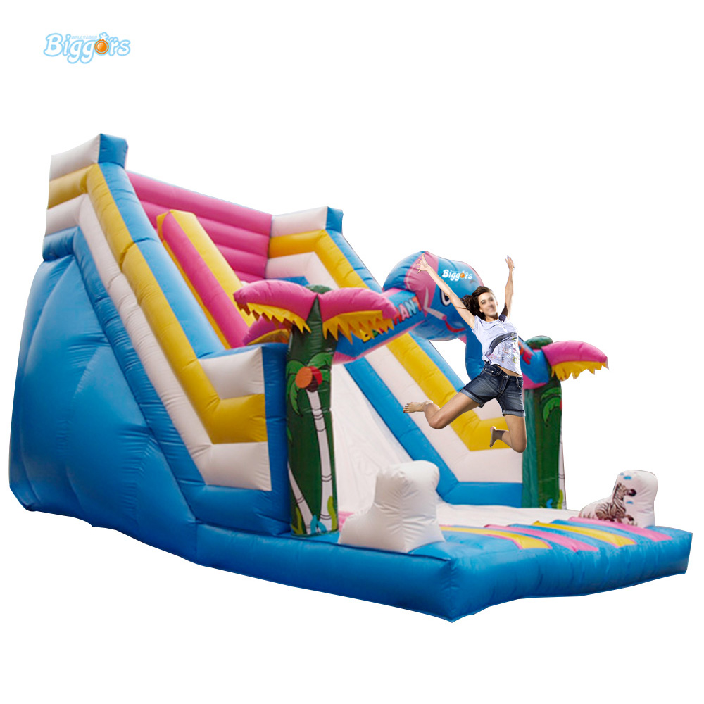 Super Funny Elephant Shape Inflatable Games Kids Slide Toy For Outdoor funny summer inflatable water games inflatable bounce water slide with stairs and blowers