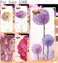 Hard Plastic Phone Cases For Sony Xperia L C2105 S36h C2014 4.3 inch Cases Cover Shell Colourful Flowers Painting Housing