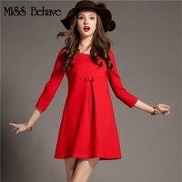 ميس تتصرف 2018 الخريف الجديدة عالية الجودة اتجاهات الموضة حجم كبير اللباس تظهر رقيقة حمراء الدانتيل الكرة ثوب ثوب