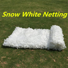 1.5X4 2X3 2X6 3X4 2X8 1.5X5M Jacht camping Militaire Camouflage Net Outdoor Sneeuw Wit Mesh Netting Wedding Party Decoratie