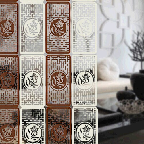 room divider screen wood folding knife titanium handle Foldable shield decorative shield plastic partitions complex Antique