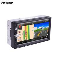2 Double DIN 7 Inch Car Aux MP5 7023D Support With GPS Bluetooth Radio