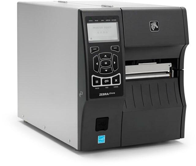Original Brand New ZEBRA ZT410 Desktop Thermal Transfer And Direct Thermal Modes  Barcode Printer 600dpi Barcode Printer