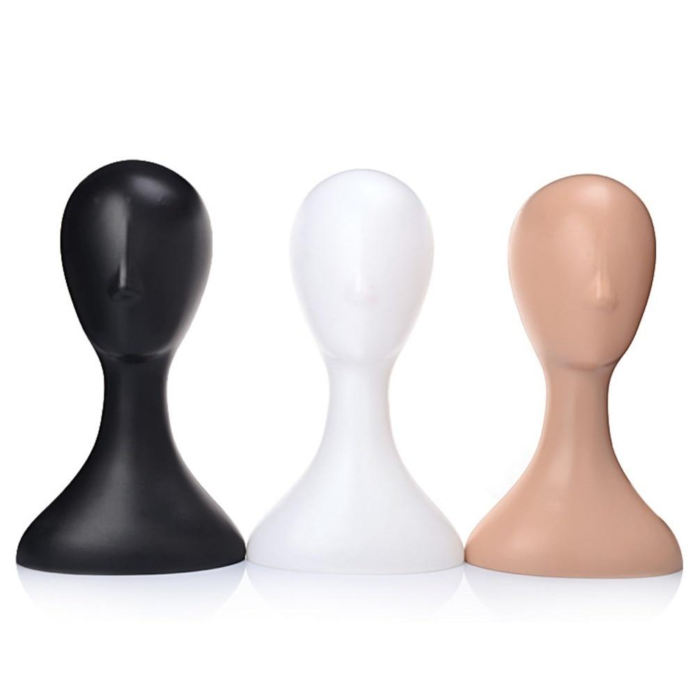 Female Plastic Mannequin Manikin Head Model Foam Wig Hair Glasses Display Stand White/Black/Natural
