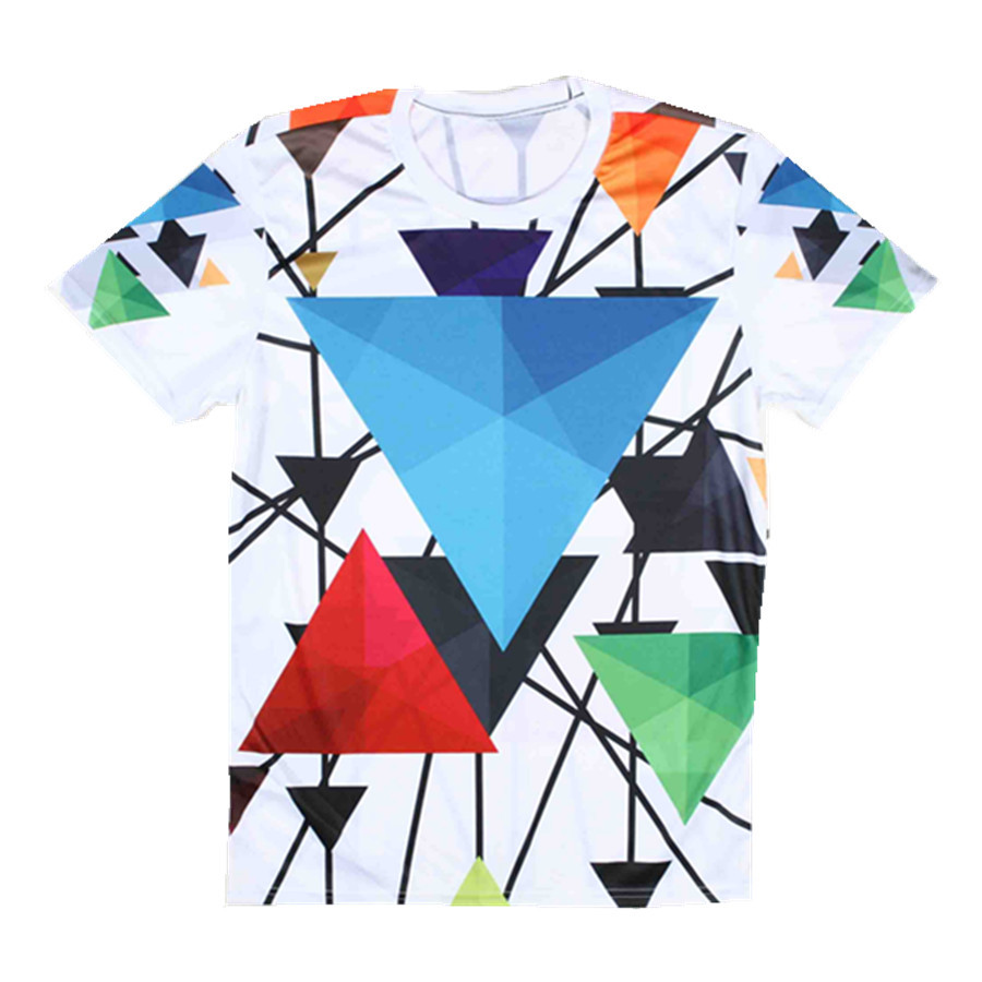 Design t shirt blue cotton - 2015 Hot Selling Men Fancy T Shirt With Geometric Pattern Design Cotton Casual Round Neck Short Sleeve Tshirts In T Shirts From Men S Clothing Accessories