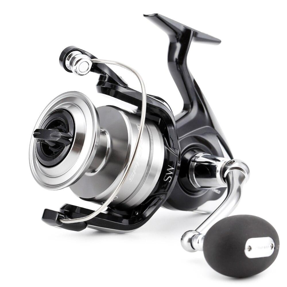 100 Original Shimano SPHEROS SW 5000HG 6000HG 6000PG 8000HG Spinning Fishing Reel 4 1BB Saltwater Front