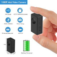 1080P Mini Recorder Security Camera Camcorder with Loop Motion Detection Recording 90 Mins Battery Life Indoor Nanny Camera NVR