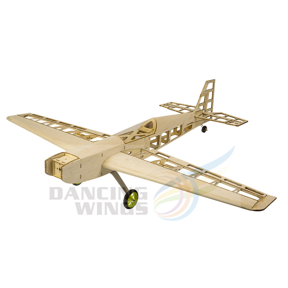 Balsawood Airplane Model Rc Electric Plane Trainer 800mm