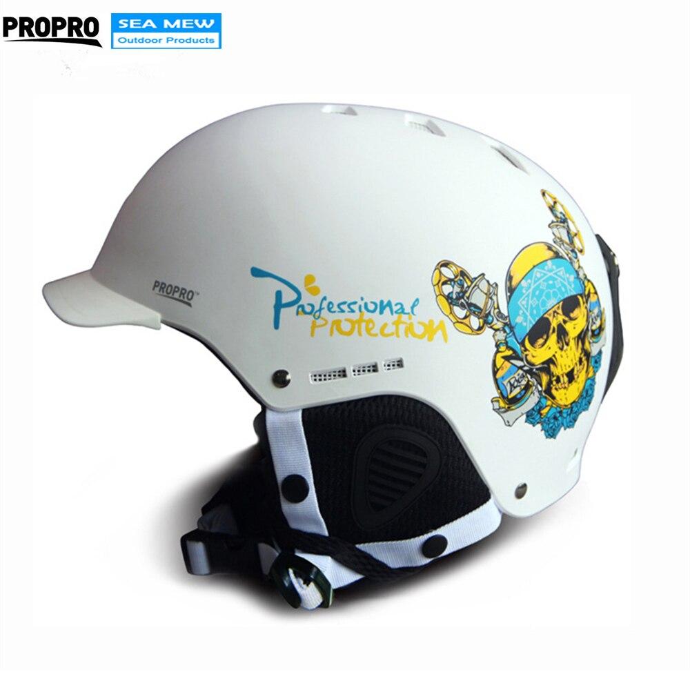 PROPRO Professional Men Women Ski Helmet Skeleton Skull Snowboarding Helmet Roller Skating Skateboard Skiing Sports Helmets airsoft adults cs field game skeleton warrior skull paintball mask