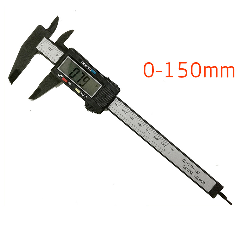 150mm LCD Digital Caliper Electronic Carbon Fiber Vernier Gauge Micrometer 6 inch Measuring Tool Pachymeter|Body Kits| |  - title=