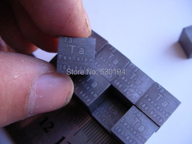 99.9% High Purity Tantalum Ta Metal 15.318g Carved Element Periodic Table 10mm Cube