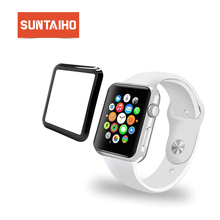 Suntaiho 4D Full gel glass film for Apple Watch 44 /42/40/38 mm Full Cove Screen Protector for Apple Series watch 4/3/2 Film