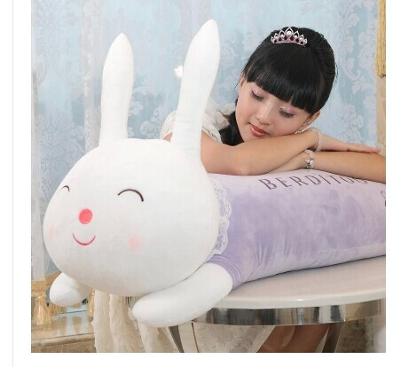 stuffed animal 70 cm cute lying pudding rabbit plush toy doll sleep pillow boyfriend's pillow Originality doll gift w3214 50cm cute plush toy kawaii plush rabbit baby toy baby pillow rabbit doll soft children sleeping doll best children birthday gift