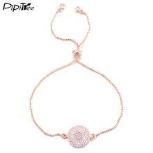 Pipitree Высокое качество Полный Сияющий CZ браслет с фианитами для женщин золотой цвет цепи браслеты ювелирные изделия для свадьбы
