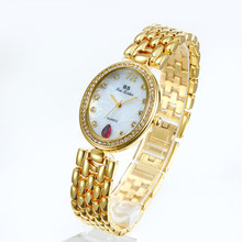 2019 New Hot Sale Watch Round and Oval Dial Arabic Digital Scale High-end Link Ruby Female Fashion & Casual