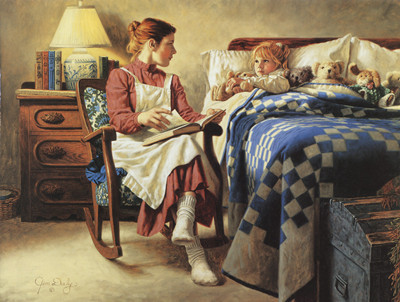 Bedtime story girl reading Needlework embroidery DIY people DMC 14CT Cross stitch kit Pattern counted Cross