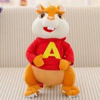Film i TELEWIZJA myszy zabawki-piękne Zabawki pluszowe śliczny duży Alvin lalki około 32 cm