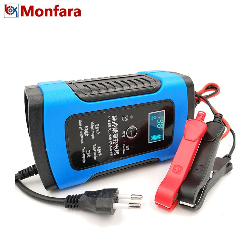 12 V 6A LCD Intelligent Rapide Chargeur De Batterie de Voiture pour Auto Moto Plomb-Acide AGM GEL Batteries Intelligente De Charge 12 V Volt 6 Un AMP
