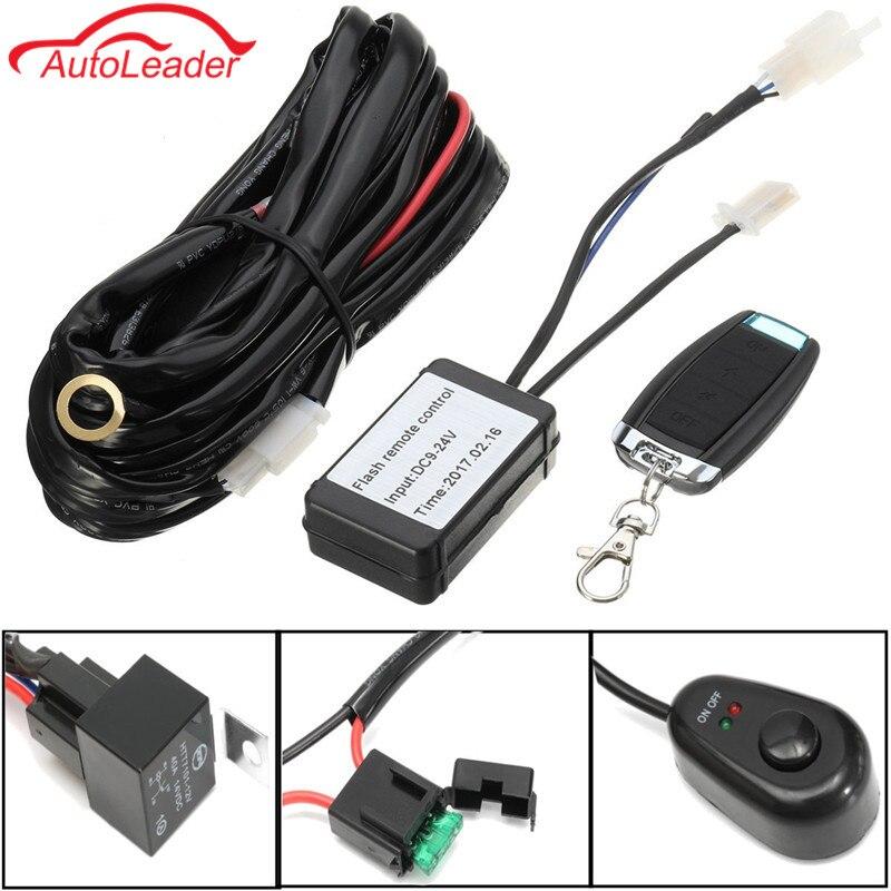 offroad led light bar wiring harness kit 12v 40a extension. Black Bedroom Furniture Sets. Home Design Ideas