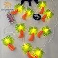 Iluminación de vacaciones 1.65 m 10 LED de Batería Operado luz de la Secuencia Para Garland Partido Decoración de La Boda de Navidad Flasher Luces de Hadas
